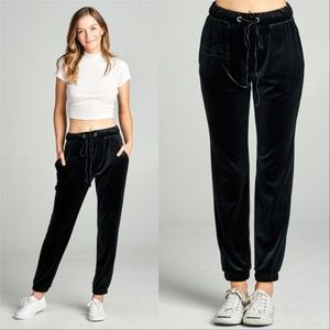 Joggers Pants Causal Womens Styles Comfy Velvet
